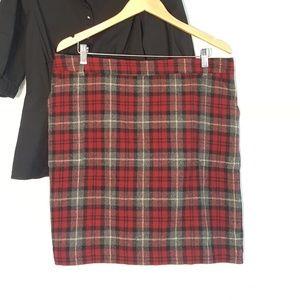 👢 Eddie Bauer Wool Mercer Fit Plaid Mini Skirt 18